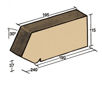 F-23, window sill capping tile