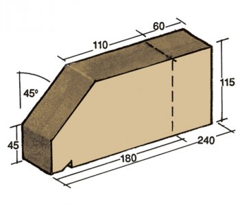 F-26, window sill capping tile