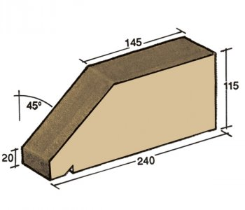 F-27, window sill capping tile