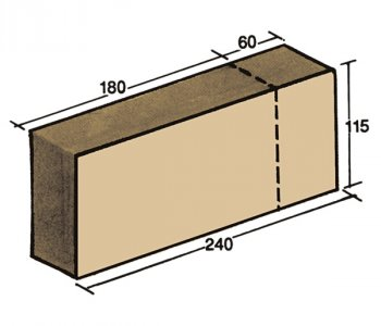 F-31, shaped brick