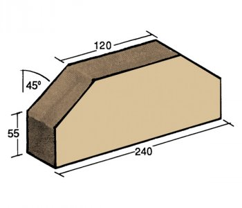 F-36, wall capping brick