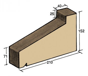 F-45, window sill capping tile