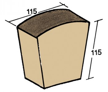 F-59, corner sheathing tile